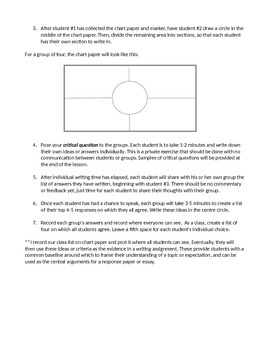 Critical Thinking Placemat Group Task