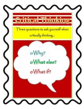Critical Thinking Poster Red