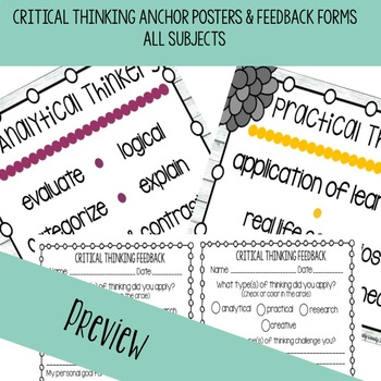 Critical Thinking Posters