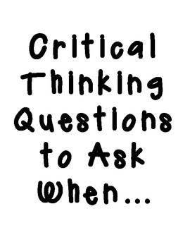 Critical Thinking Posters: English Language Arts