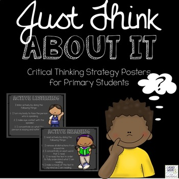 Critical Thinking Posters for Primary Students