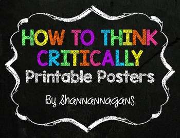 Critical Thinking Printable Posters