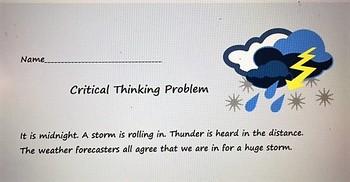 Critical Thinking Problem