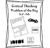 Critical Thinking 3rd Grade, 4th Grade, 5th Grade  - Probl