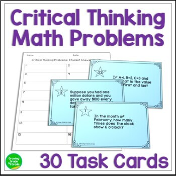 Critical Thinking Activities Math Task Cards