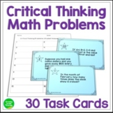 Math Word Problems: Critical Thinking Task Cards for Grades 4-7