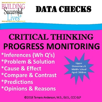 Critical Thinking Progress Monitoring Tool