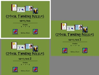Critical Thinking Puzzles: Variety Bundle for Middle Schoo
