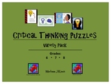 Critical Thinking Puzzles: Variety Pack for Middle Schoolers
