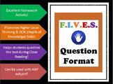 Critical Thinking Questions - F.I.V.E.S.
