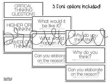 Critical Thinking Questions {Teal}