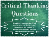 Critical Thinking Questions-Math Posters and Strips