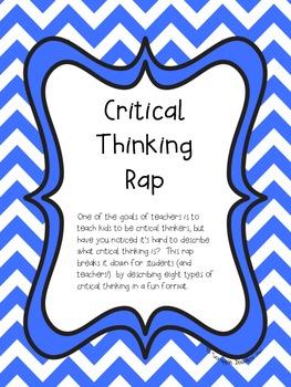 Critical Thinking Rap (Common Core Aligned)