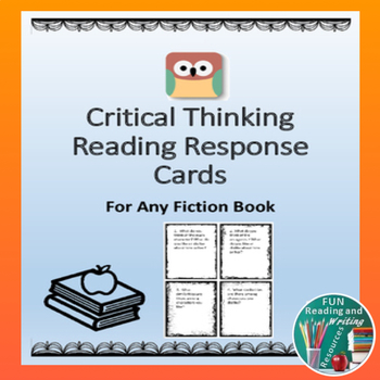 Critical Thinking Reading Response Journal Cards