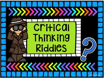 Critical Thinking Riddles