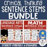 Critical Thinking Stems Bundle - Editable