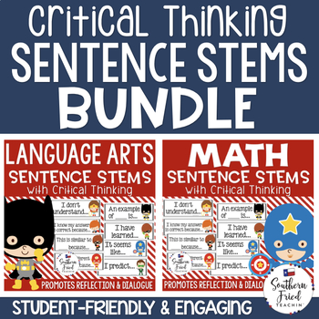 Critical Thinking Stems Bundle - Editable