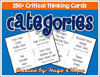 Critical Thinking Game - Categories