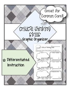 Graphic Organizer ELA - Critical Thinking Skills & Differentiated Instruction