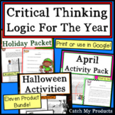 Critical Thinking Activities: Year Round MEGA-Bundle