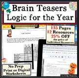 Critical Thinking Activities: Year Round MEGA-Bundle