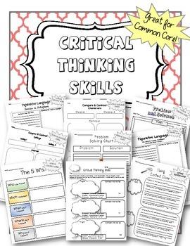 Graphic Organizers  - Critical Thinking Skills ELA Bundle