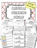Critical Thinking Skills Graphic Organizers Bundle for ELA