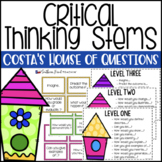 Costa's House of Questions Thinking Stems (AVID) - EDITABLE