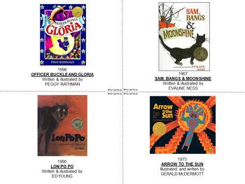 CALDECOTT BOOK ACTIVITIES Set I Literature Critical Thinking Enrichment