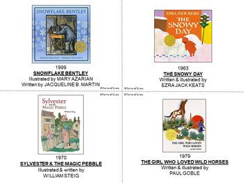 BOOK ACTIVITIES: Literature, Critical Thinking, Literacy Center, Caldecott Books