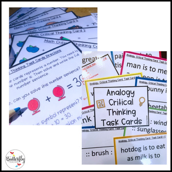 Critical Thinking Task Cards Bundle
