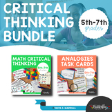 Critical Thinking Task Cards Bundle | 2nd-6th Grade Critical Thinking Task Cards