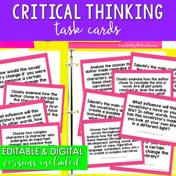 Critical Thinking Task Cards for Middle School & High School