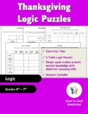 Critical Thinking Thanksgiving Logic Puzzles