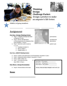 Critical Thinking Unit, Design Challenge, Design a product for an amputee