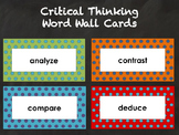 Critical Thinking - Word Wall Cards - Editable