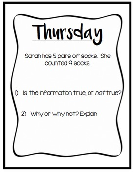 Warm-up's - Critical Thinking Template
