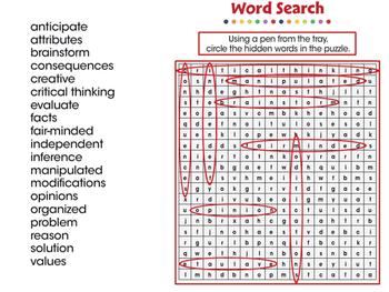 Critical Thinking: Word Search - MAC Gr. 3-8