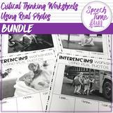 Critical Thinking Worksheets Using Real Photos Growing Bundle (no prep)