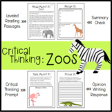 Critical Thinking: Zoos (Differentiated Reading Passages a
