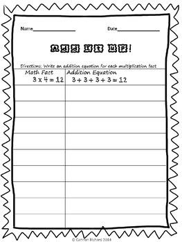 Multiplication Worksheets 1-9!