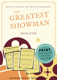 The Greatest Showman Movie Guide Packet + Activities + Sub Plan + Best Value