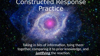Critical Thinking and the Constructed Response - using an analogy in the answer