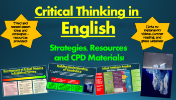 Critical Thinking in English: Strategies, Resources, and CPD Materials