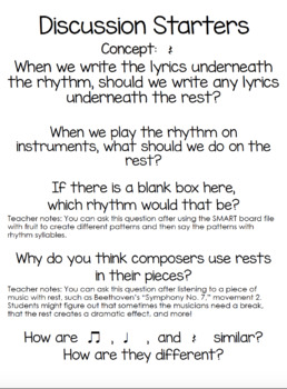 Critical Thinking in the Music Classroom {First Grade}
