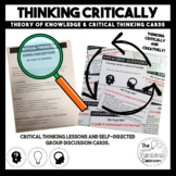 Critical Thinking lessons & discussion cards