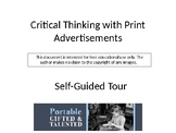 Critical Thinking with Print Advertisements -- Blended Lea