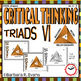 CRITICAL THINKING BUNDLE Triads 2.0 Task Cards Literacy Centers Vocabulary
