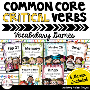 Critical Verbs of the Common Core Vocabulary Games