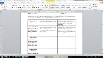 Critical Visual Literacy-Video Clip Analysis Lesson Sample and Worksheet